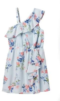 BCBGirls Ruffled Cold Shoulder Dress (Toddler & Little Girls)