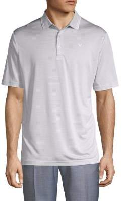 Callaway Buttoned Striped Polo