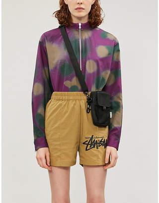 Stussy High-rise shell shorts