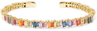 Suzanne Kalan 18-karat Gold Sapphire Cuff