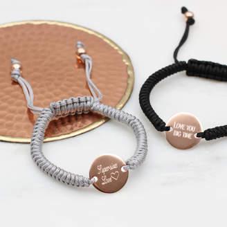 959724034ab Hurleyburley Personalised 18ct Rose Gold Friendship Bracelet