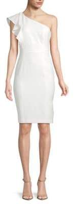 Karl Lagerfeld Ruffle One-Shoulder Dress