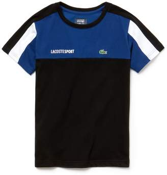 Lacoste Boys' SPORT Crew Neck Colorblock Jersey Tennis T-shirt