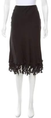 Armani Collezioni Embellished Midi Skirt