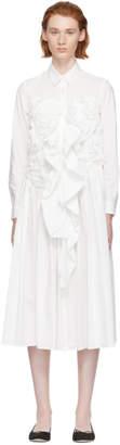 Chika Kisada White Gathered Shirt Dress