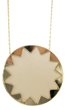 House Of Harlow - Women's Cream Sunburst Star Gold Necklace
