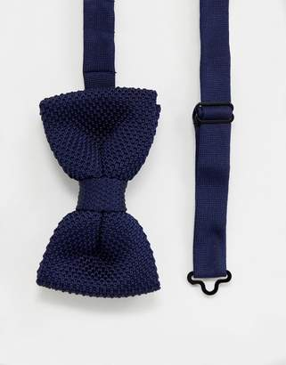 Devils Advocate Navy Knitted Bow Tie