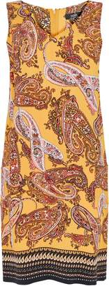 WallisWallis Ochre Paisley Printed Shift Dress