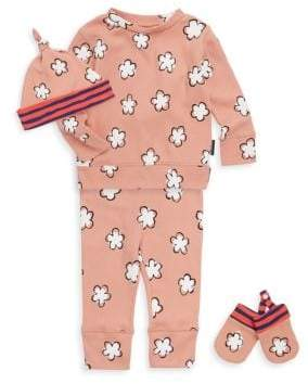 Burberry Baby Girl's Asha Beanie, Sweatshirt, Pants& Mittens Set