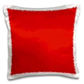 3dRose Red - plain simple solid color - bold vibrant bright pure Imperial Crimson Fire-engine Cardinal red - Pillow Case, 16 by 16-inch