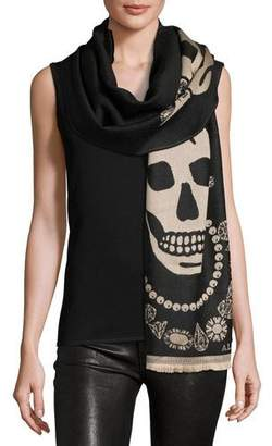 Alexander McQueen Oversized Wool King Scarf $230 thestylecure.com