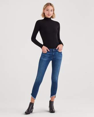 7 For All Mankind Ankle Skinny with Angled Raw Hem in 5th Ave