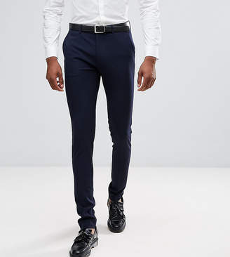 Asos Design DESIGN Tall super skinny smart trousers in navy