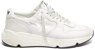 Golden Goose Running Sole Low Top Leather Trainers - Womens - White