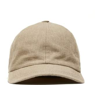 Lock & Co Hatters Lock and Co + Todd Snyder Linen Rimini Baseball Cap in Oatmeal