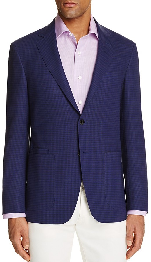 CanaliCanali Micro Check Classic Fit Travel Sport Coat - 100% Bloomingdale's Exclusive