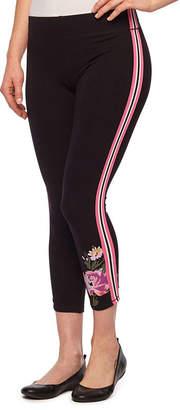 MIXIT Mixit Side Stripe Flower Hem Leggings