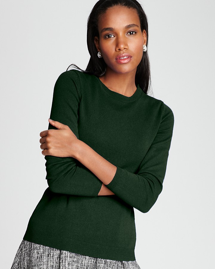 C by Bloomingdale's Cashmere Long Sleeve Crew Neck Sweater