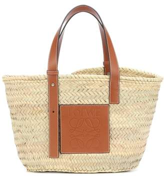 Loewe Leather-trimmed basket tote