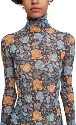 Acne Studios Floral Long-Sleeve Turtleneck