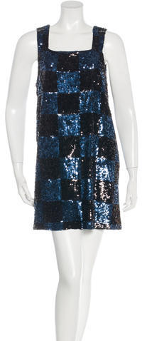 Alice + Olivia Alice + Olivia Sequin-Embellished Mini Dress