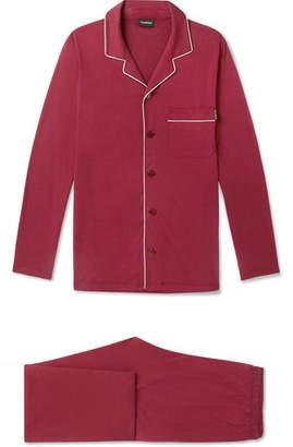 Ermenegildo Zegna Piped Mulberry Silk And Cotton-Blend Pyjama Set