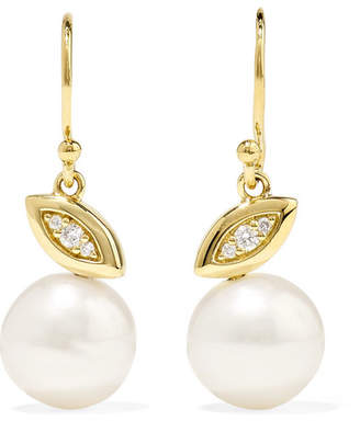 Ippolita Nova 18-karat Gold, Diamond And Pearl Earrings