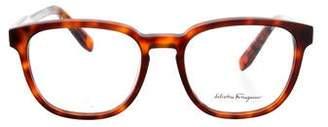 Salvatore Ferragamo Tortoiseshell Keyhole Eyeglasses w/ Tags