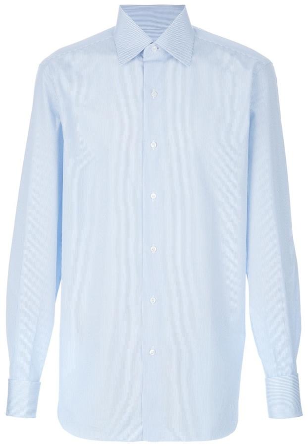 Brioni 'Clark' stripe shirt