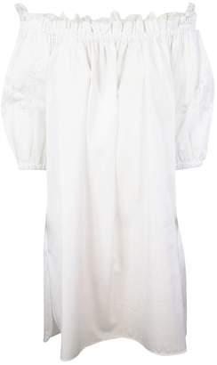 Ermanno Scervino Lace Trim Bardot Day Dress