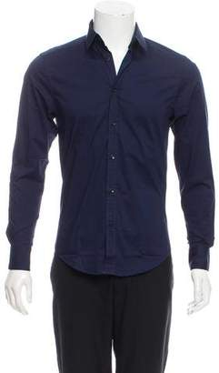 Versace Long Sleeve Button-Up Shirt
