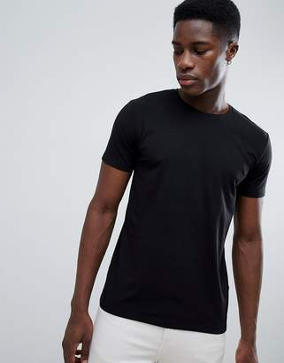 Esprit Organic Muscle Fit T-Shirt In Black