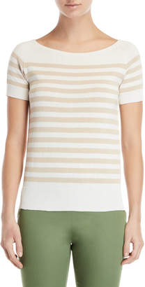 Les Copains Striped Short Sleeve Sweater
