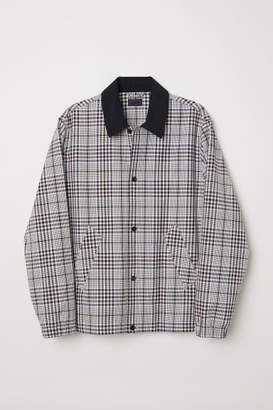 H&M Checked Shirt Jacket - Beige