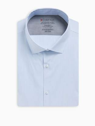 Calvin Klein x fit ultra slim fit vertical stripe dress shirt