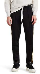 Ovadia & Sons Men's Graphic-Striped Tech-Jersey Track Pants - Black