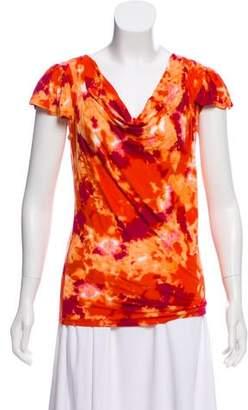MICHAEL Michael Kors Short Sleeve Printed Top