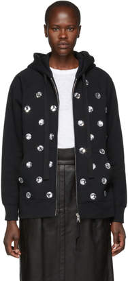 Marc Jacobs Black Embellished Hoodie