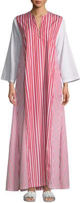 Evi Grintela Novella Striped Poplin Maxi Dress