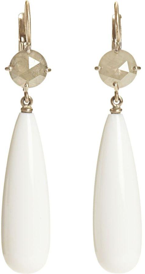 Tiziana Vigano Diamond & Opal Earrings
