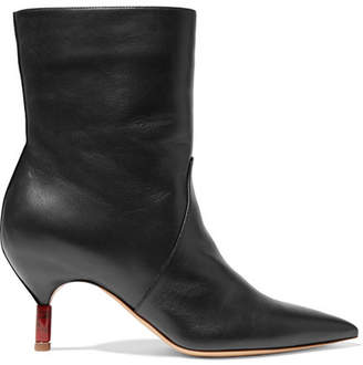Gabriela Hearst Mariana Leather Ankle Boots - Black
