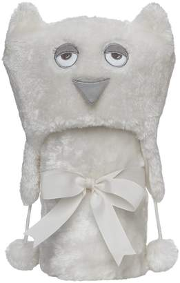 "Elegant Baby Giftable Cream Aviator Hat with Fleece Lining and Soft, Cream, 30x34"" Ultra Plush, Soft Stroller Blanket"