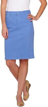 Isaac Mizrahi Live! Knit Denim Pencil Skirt