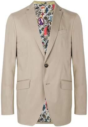 Etro print lined blazer