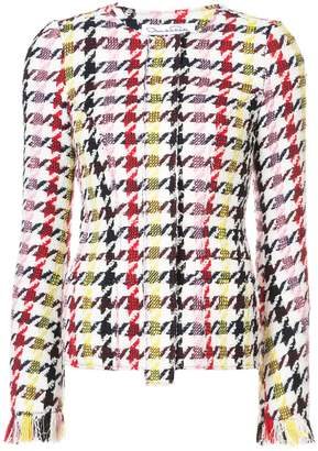 Oscar de la Renta graphic-print tweed jacket
