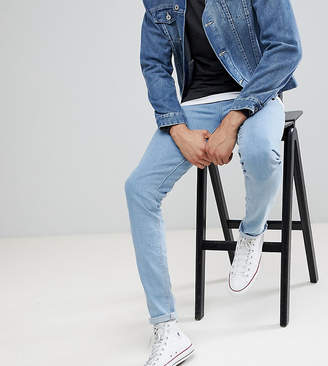 Asos Design DESIGN Tall skinny jeans in flat light wash