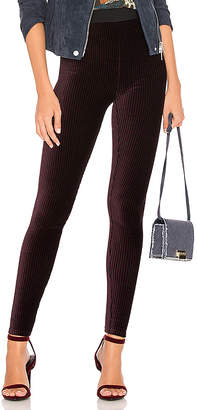 Free People Here We Go Striped Velvet Legging