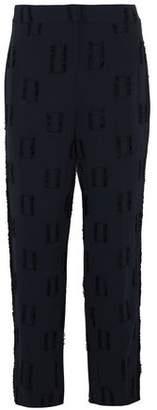 Derek Lam 10 Crosby Fil Coupé Crepe Straight-Leg Pants