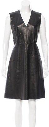 Derek Lam Leather Sleeveless Dress $200 thestylecure.com