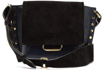 Isabel Marant Kleny Studded Small Leather Shoulder Bag - Womens - Navy